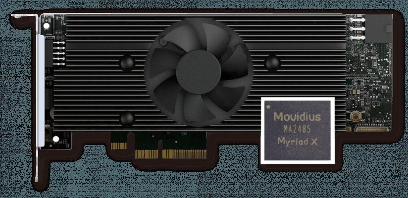 IEI Mustang V100-MX8 包含 8 个英特尔® Movidius™ Myriad™ X VPU