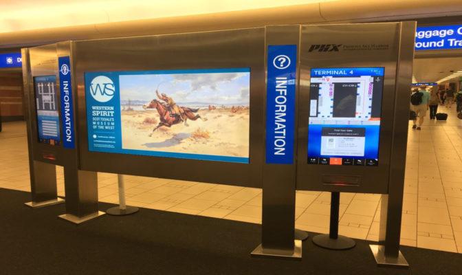 天港國際機場的自助服務亭反映出亞利桑那州的精神和文化