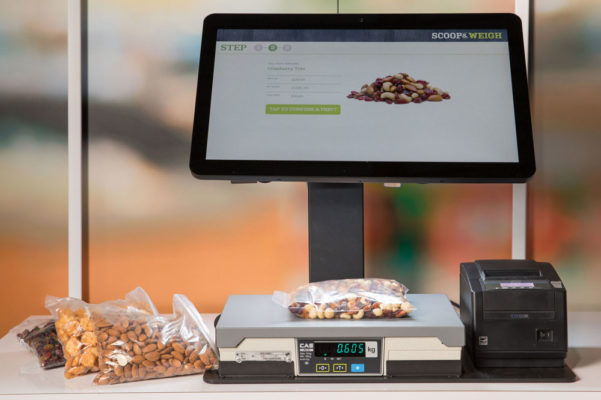 Computer vision POS devices can automatically recognize bulk items, even trail mix.