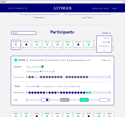 Litmus Health provides a clinical data science platform that allows medical researchers to conduct trials based on real-time patient sensor data from the edge. (Source: Litmus Health)