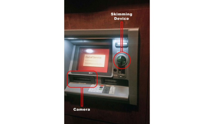 ATM skimming systems use a card reader and recording device. (Source: Aspen Public Radio)