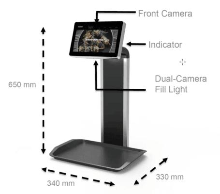 超薄平板电脑提供了电容触摸感应和多个摄像头。(来源:Flytech)