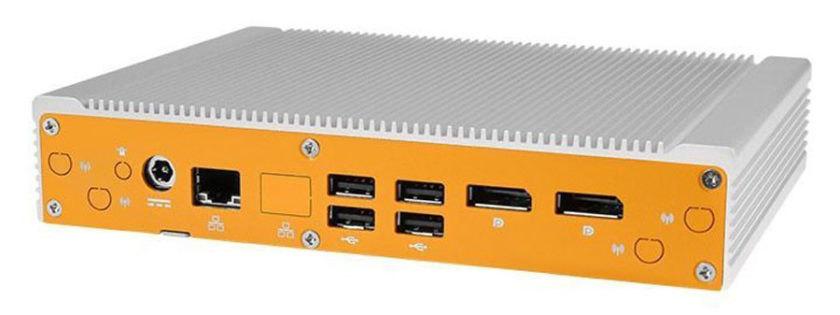 ML350G-10 是一款堅固耐用的行動閘道,支援 LTE Cat-M1、NB-IoT 和 LoRa 通訊。(資料來源:OnLogic)