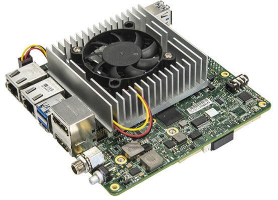 Figure 2. The AAEON UP Xtreme is equipped with Intel® Core™ or Intel® Celeron® processors, and supports up to six Intel® Movidius™ VPUs. (Source: AAEON)