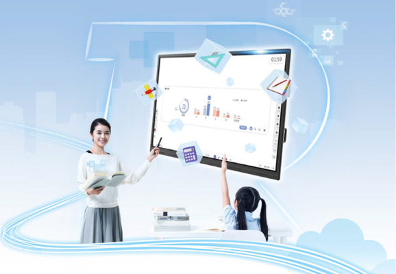 图 1.云黑板平台助力迈向智能教室。