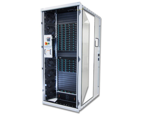 Image of Zeus High Performance Cabinet that holds rack servers